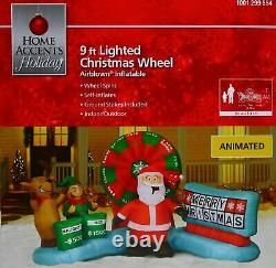 9 Ft Lighted Animated Christmas Wheel Outdoor Decoration Made By Gemmy