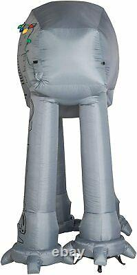 9' Gemmy Airblown Inflatable Star Wars AT-AT Walker with Christmas Light Strings