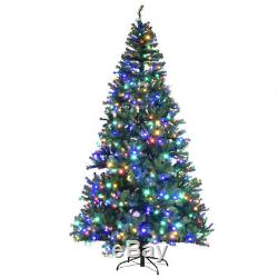 9' Pre-Lit Artificial Christmas Tree Premium Hinged with 1000 LED Lights & Stand