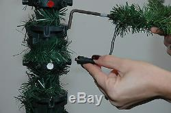 9' Siberian Pine Artificial Christmas Tree with Multi-Color LED Lights
