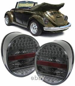 All Smoked Led Tail Lights For Vw Beetle 1972 Onwards Model Christmas Gift