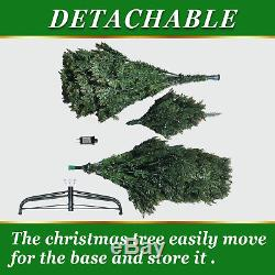 Artificial Christmas Tree 7.5' Full Fir w 750 Clear LED Lights 2514 Branch Tips