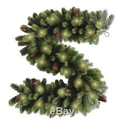 Best Artificial 6ft / 9ft PREMIUM Christmas Garland with Full PE Tips, LED Lights