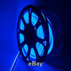 Blue 50/100/150ft LED Neon Rope Lighting Flex Tube Wedding Party Home Yard Decor