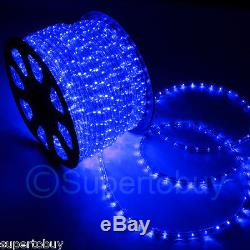 Blue LED Rope 150ft 110V 2 Wire Flexible DIY Lighting Outdoor Christmas Xmas