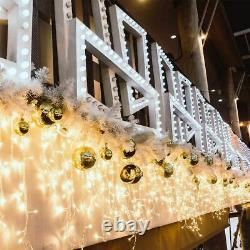 Christmas 480/720/960/1200 Led Icicle Snowing Xmas Chaser Lights Outdoor Indoor