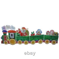 Christmas Decoration Holographic Train Outdoor Pre-Lit LED Lights Holiday Decor