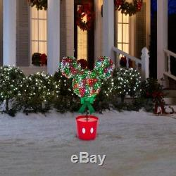 Christmas Disney Magic Holiday Led Multi Color Lighted Mickey Mouse Topiary Tree