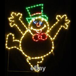 Christmas Frosty the Snowman Display LED Lighted Outdoor Decoration Yard Art NEW