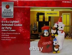 Christmas Gemmy 6 ft 6 in Lighted Animated Cookie Jar Party Airblown Inflatable