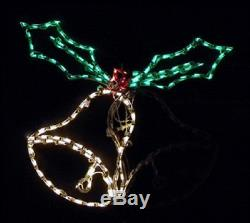 Christmas Holiday Animated Bells Outdoor LED Lighted Decoration Steel Wireframe