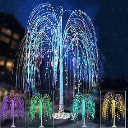 Christmas Light Display Outdoor Yard Garden Summer Willow Tree Color Change LED