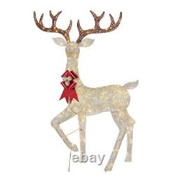Christmas Reindeer Family Set of 2 Bucks With 480 LED Lights Indoor/Outdoor