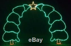 Christmas Tree Walkthrough Arch Outdoor LED Lighted Decoration Steel Wireframe