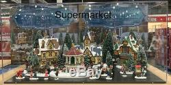 Christmas Village Scene with LED Lights & Music 30 Pieces