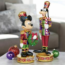 Disney 15.1 Inches (38.5cm) Christmas Mickey & Goofy Nutcrackers with LED Lights