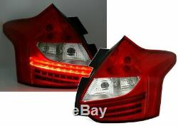 Ford Focus Mk3 Clear Led Rear Lights Tail Lamps 4/2011-11/2014 Christmas Gift