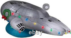Gemmy Airblown Inflatable Disney Star Wars Millennium Falcon with Christmas Lights