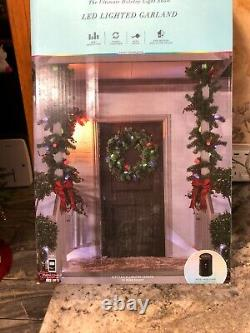 Gemmy Orchestra of Lights 8ft LED C9 Lighted Garland Color Changing NEW