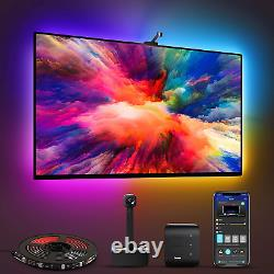Govee Immersion WiFi TV LED Backlights with Camera, Smart RGBIC Ambient TV Light