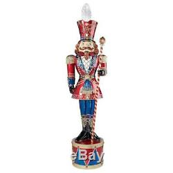 Grand Scale 6' LED Lighted Band Leader Nutcracker Soldier Christmas Lawn Decor