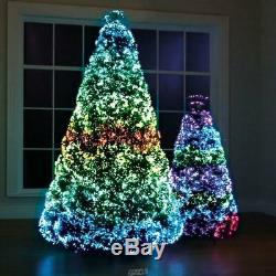 Hammacher Northern Lights Christmas Tree LED Lighted Fiber Optic Tips 23 Pattern