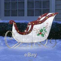 Hammacher TWINKLING LAWN SCULPTURE HOLIDAY CHRISTMAS SLEIGH LED LIGHTS