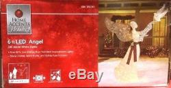 Home Accents Holiday 6 ft LED Lighted PVC White Angel