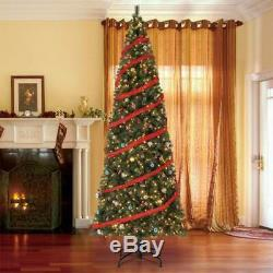 Home Heritage 12 Ft Albany Pre-Lit Artificial Christmas Tree, LED Lights (Used)