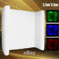 Inflatable LED Light Photo Booth Air Wall Wedding Party Christmas 2.5M+RC&Blower
