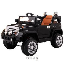 Kids Ride On Truck Car RC Remote Control with LED Lights MP3 Music Xmas Gift Toy