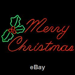 LED Christmas Rope Light Display NEON Red Merry Christmas Outdoor Decoration NEW