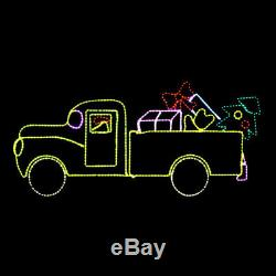 LED Christmas Rope Light Holiday Gift Truck Outdoor Yard Display Large Animated