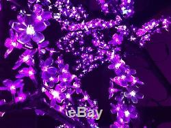 LED Christmas cherry blossom tree light with 6.5ft height 864LEDs multi-colored