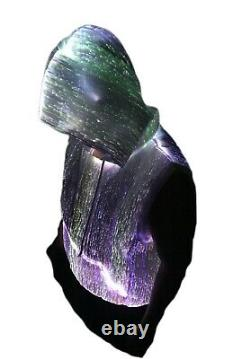 LED Hoodies Fiber Optic Light up hoodies Sleeveles Party Club voice activated