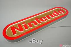 LED Lightbox Advertising Sign. Custom Personalised LED Signs. Nintendo Sign