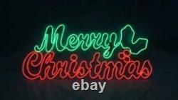 LED Lighted Colorful Red & Green 36 MERRY CHRISTMAS Outdoor Holiday Yard Sign