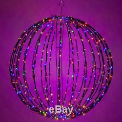 LED Multicolor Christmas Light Ball Sphere Outdoor Lighted Decorations NEW