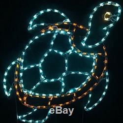 LED Sea Turtle Lighted Outdoor Decor Yard Art Display Nautical Summer Tropical
