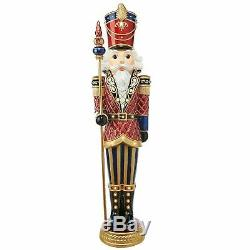 Large Nutcracker Soldier 6 foot Life-Sized Corded LED Lights Christmas Decor