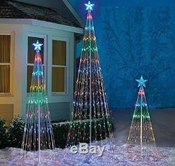 Lighted Led Tree Outdoor Christmas Holiday Decoration 4' 6' or 8' FT Multi Color