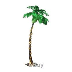 Lightshare 7 Feet Lighted Palm Tree, 96LED Lights, Decoration For Home, Party