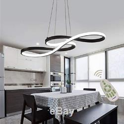 Modern LED Acrylic Chandelier Dimmable Remote Control Pendant Lights Dining Room
