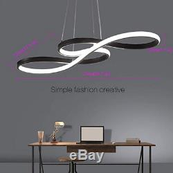 Modern LED Chandelier Dimmable Remote Control Pendant Lights Dining Room Gold