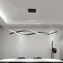 Modern Pendant Light Creative Spiral LED Chandelier Dimmable Remote Control