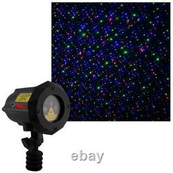 Moving Firefly LEDMALL RGB Outdoor Garden Laser Christmas Lights with RF remote