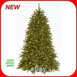 National Tree 7.5 Foot Dunhill Fir Tree 750 Dual Color LED Lights 9 Function