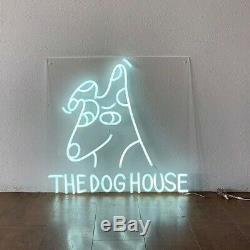 Neon The Dog House Party Bar Man Cave Decor Light Sign