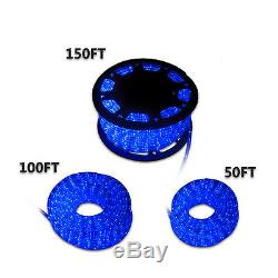 New 50'100'150'LED Rope Light Home In/Outdoor Christmas Decorative Party Blue
