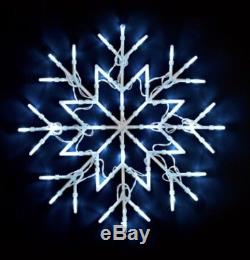 New Christmas Led Snow Flake Cool White Window Lights